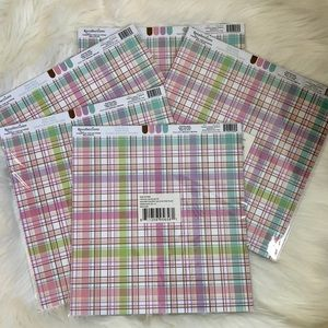Recollections Acid Free Scrapbook Paper Plaid